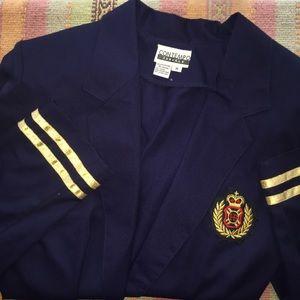 VINTAGE Contempo Royal Nautical Blazer Sz M